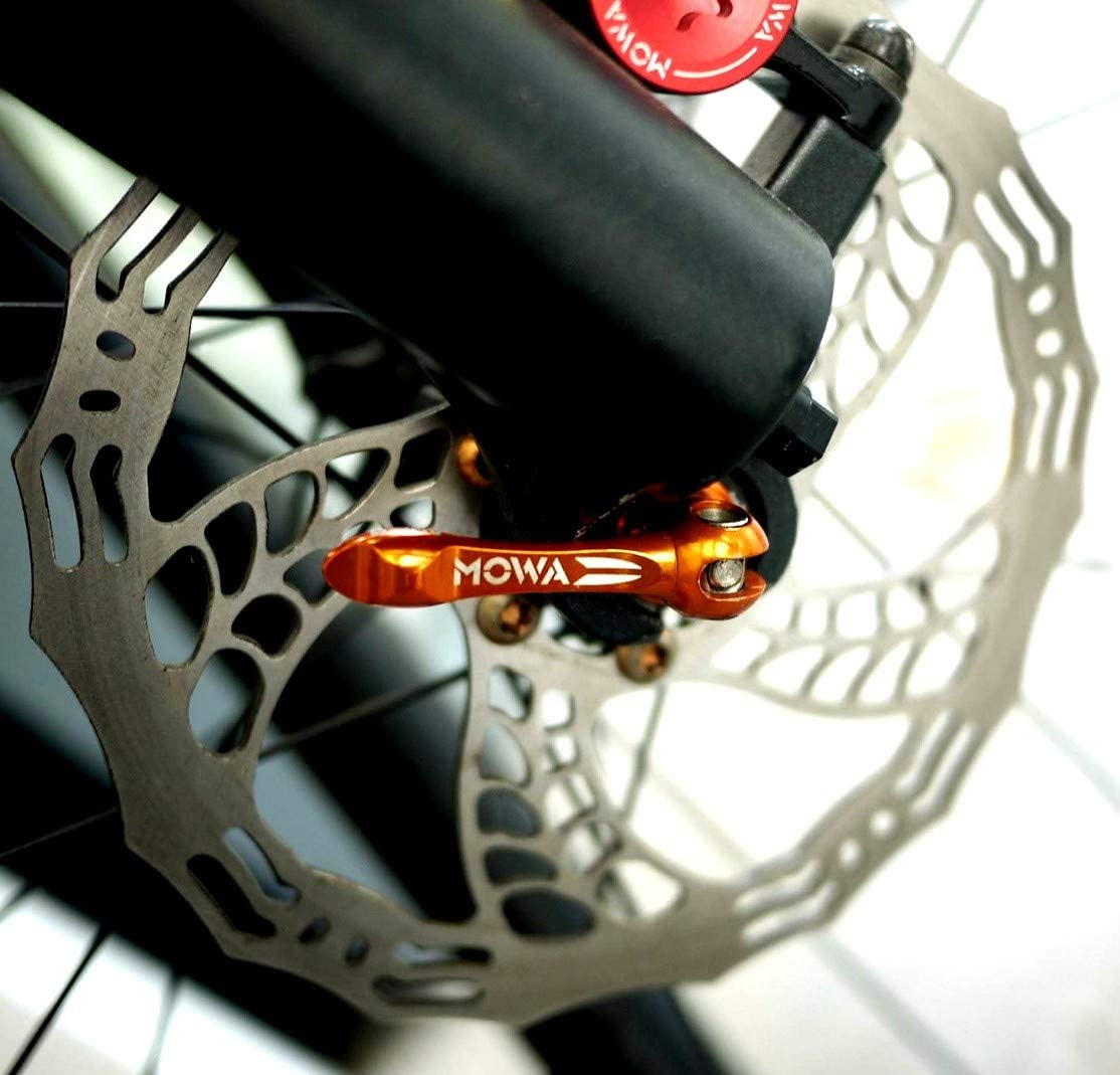 MOWA Road Cyclocross Bicycle Bike Titanium Quick Release Ti QR Skewer Set Orange