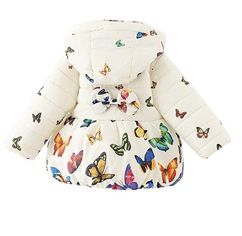 goldenharvest GH Fashion Baby Girl Butterfly Pattern Coat Toddler Jacket