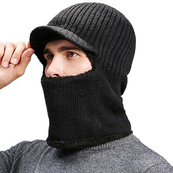 Amazon.com  Winter Balaclava Mask Windproof Face Mask Knitted Neck ... 98477b338de5