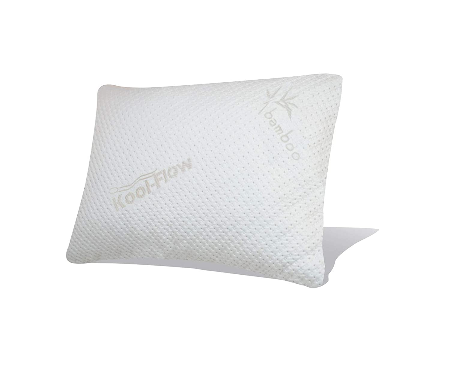 Snuggle-Pedic Ultra-Luxury Bamboo Shredded Memory Foam Pillow Combination with Kool-Flow Breathable Cooling Hypoallergenic Pillow Outer Fabric Covering Best Hypoallergenic Pillows