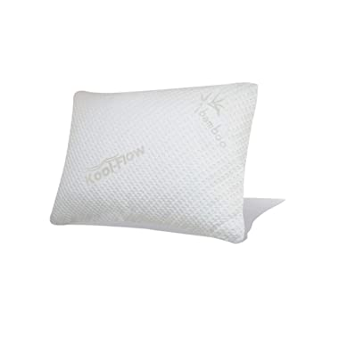 Snuggle-Pedic Original Ultra-Luxury Bamboo Shredded Memory Foam Combination Pillow with Breathable Kool-Flow Hypoallergenic Bed Pillow Outer Fabric Covering - Made in The USA - Standard (No Zippers)