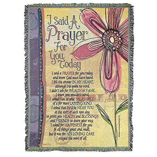 Doodle Art Said a Prayer for You 52 x 68 All Cotton Tapestry Throw Blanket