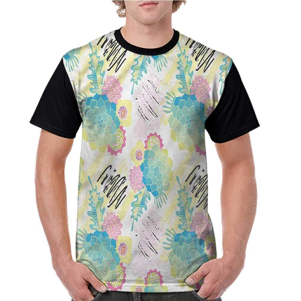 Lightly Shirts,Succulent,Cute Little Hummingbird S-XXL Print Short Sleeve Baseball Ladies Tee