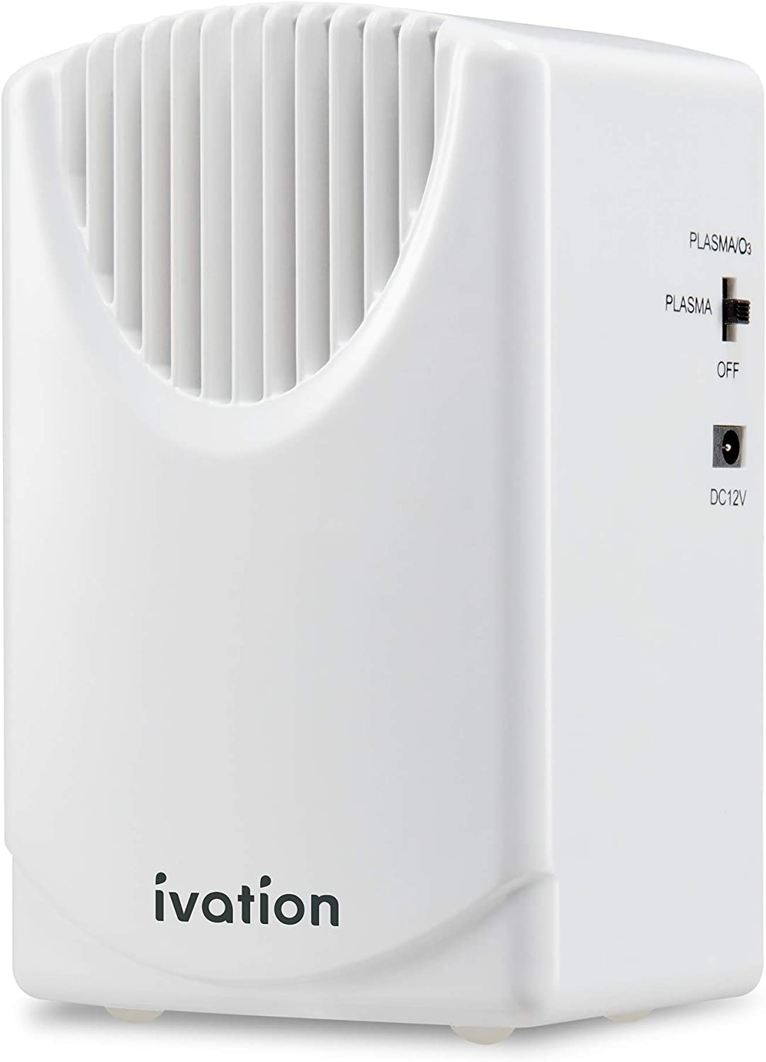 Ivation Vehicle Air Cleaner Ozone & Plasma Generator 300 MG/H, Air Ionizer & Odor Eradicator with Home & Car Power Cords, Eliminates Odors and Pollutants for Areas Up to 2,500 Sq/Ft