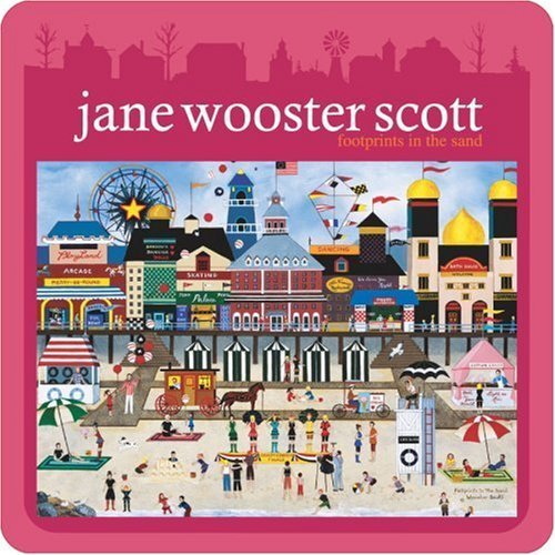 12 by Ceaco 1000 Piece Jane Wooster Scott Puzzle Tin Footprints in the Sand