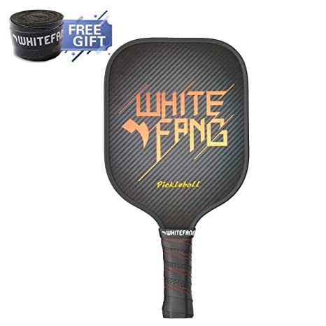 WhiteFang Pickleball Paddles, Graphite Pickleball Racket with Composite Honeycomb Core, 8oz Pickleball Rackets with Free Grip Strip and Balls (Black ...