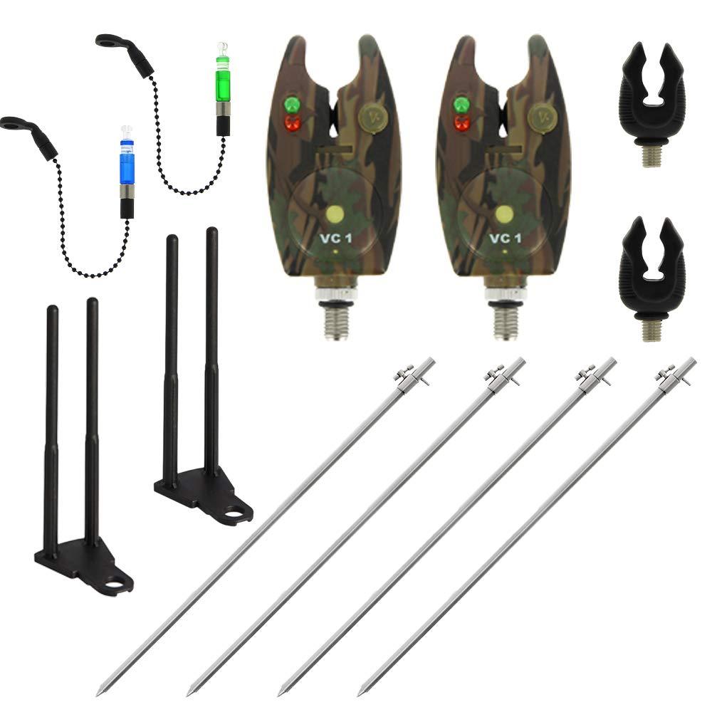g8ds/® Rutenhalter Set Banksticks Large VC1 Rutenablagen Bissanzeiger Indikatoren Snagbars Snag Ears elektronisch