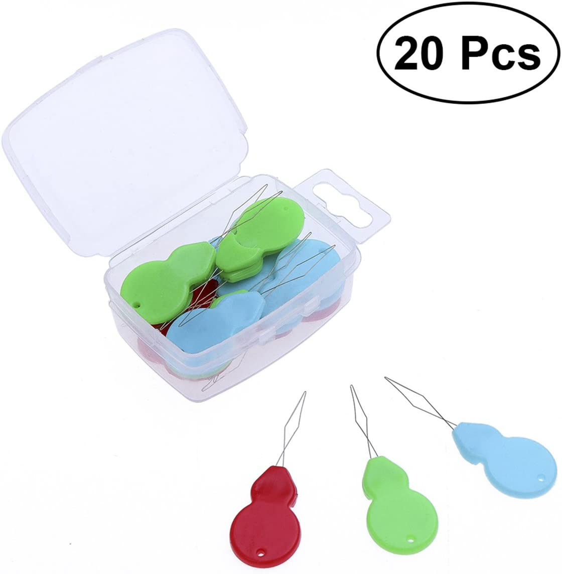 ultnice Needle Threader Hand Sewing 20pcs Threader with Plastic Transparent Box for Sewing Craft Projects