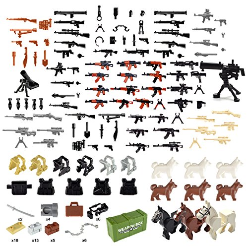 Top 10 recommendation lego guns and weapons and gear 2019
