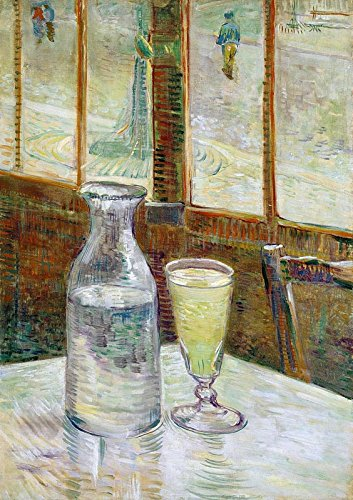 (Still Life with Absinthe by Vincent van Gogh. Wall Decal - Peel & Stick, Removable (16
