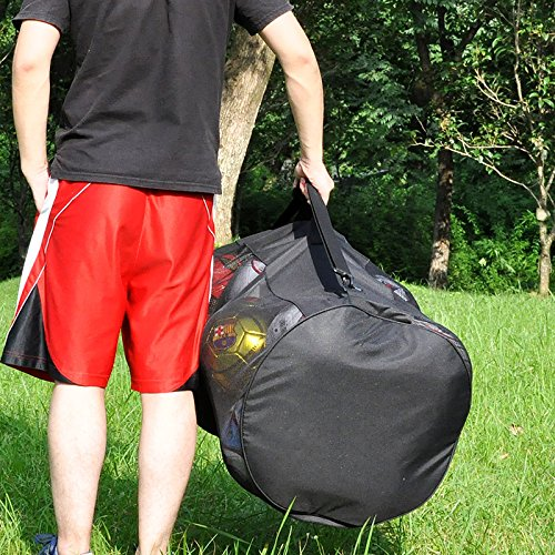 Eco Walker Ball Bag Large Capacity (Holds 16 Soccer Balls) Heavy Duty Mesh Drawstring with Adjustable Shoulder Strap and Thick Handle by Eco Walker (Image #3)