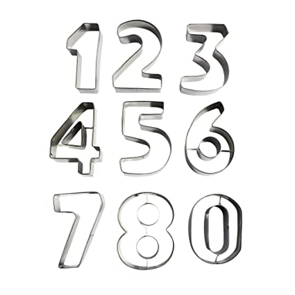 Niños Números 0 9 Alfabeto Letras Galletas Moldes Moldes para Formas de Acero Inoxidable Metal Galletas