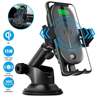 Wireless car charger mount,Qi 15W fast wireless car charger,IR control Auto-clamping Windshield Dashboard Air Vent phone mount,compatible with iPhone 11Pro/Max/XR/11/X/8,Samsung S10/S10+/S9/S9+/S8/S8+: Home Audio & Theater