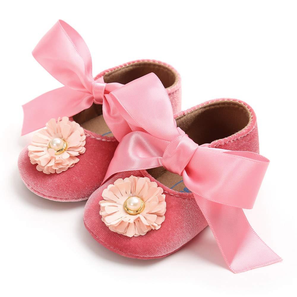 Zapatos Bebe Ni/ña Bautizo Zolimx Beb/é Ni/ña Vendaje Terciopelo Zapatos Moda Reci/én Nacidos Primeros Caminantes Ni/ño Zapato