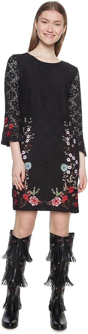 TALLA 42 (Talla del fabricante: 40). Desigual Vest_vermond Vestido para Mujer (Negro 2000) 42 (Talla del fabricante: 40)