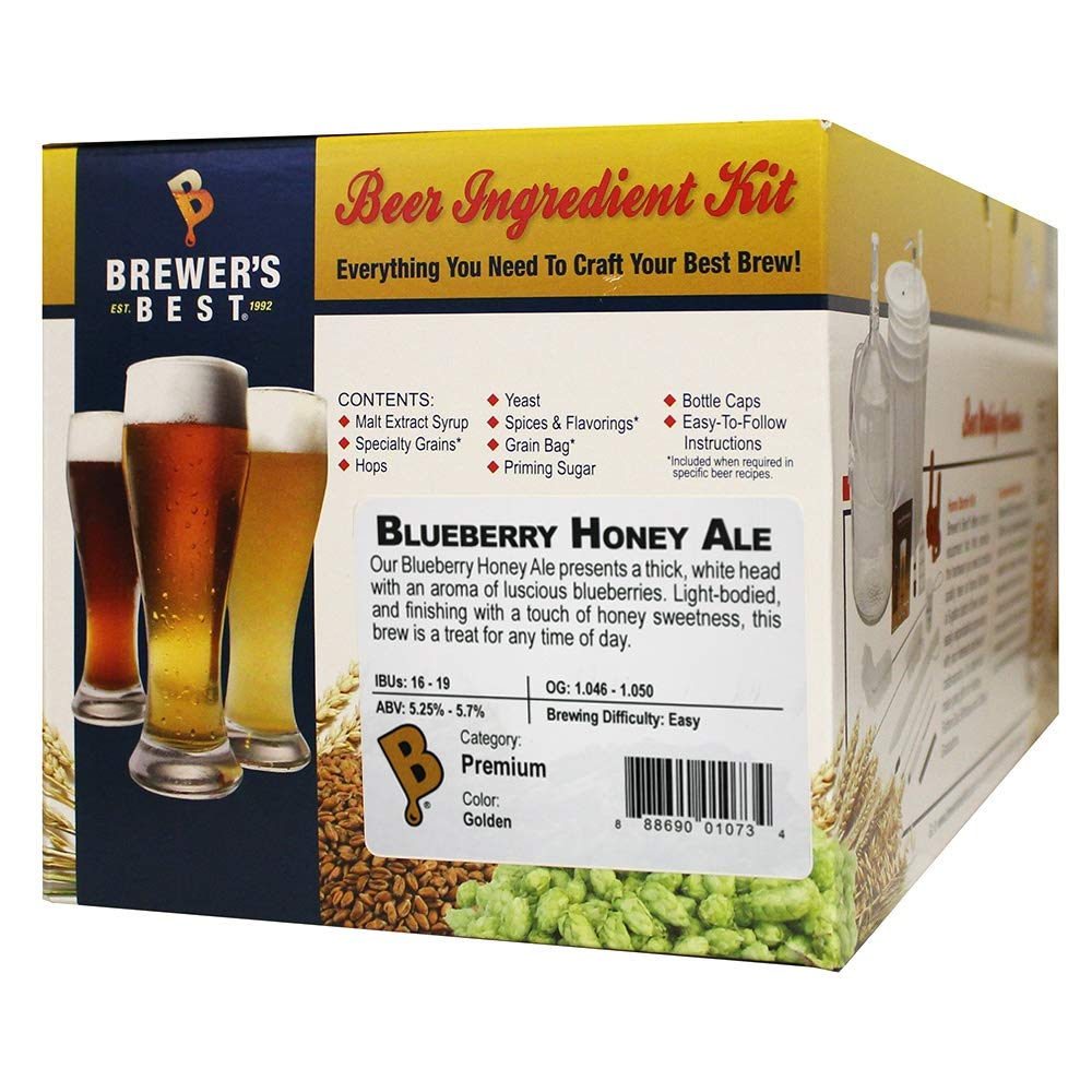 Brewer's Best Home Brew Beer Ingredient Kit-5 gallon (Blueberry Honey Ale)