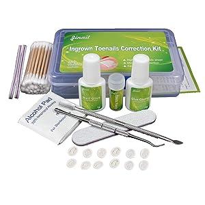 Ingrown Toenail Pedicure Tool Straightening Clip Curved BS Brace for Toenails Toe nail (Tool Kit)