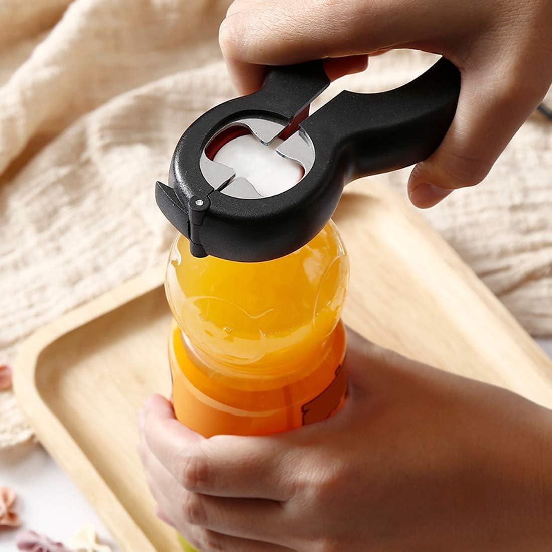 mayores 6 en 1 multifuncional puede tarro botella sellado tapas abridor para ni/ños viajes casero restaurante