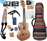 Official Ukulele Starter Kit by BONDI UKULELES with SKYPE Lesson, Video Course, Tailored Compression Case, Scratch Proof Felt Pick Set, Clip Tuner, Chord Stamp & MORE (Amazon Exclusive) Learn Ukulele