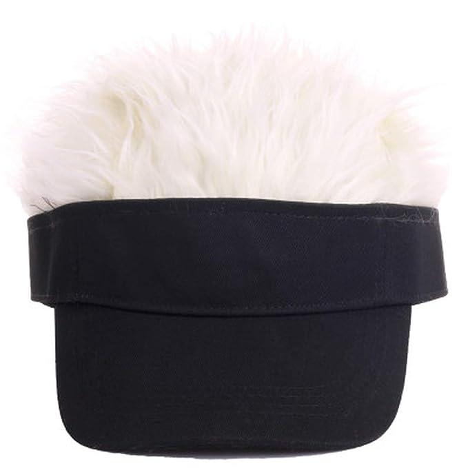 993b4d80 Hot Camo Baseball Cap Fake Flair Hair Sun Visor Hats Kids Toupee Wig ...