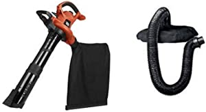 BLACK+DECKER 3-in-1 Electric Leaf Blower with Blower/Vacuum Leaf Collection System (BV6600 & BV-006L)