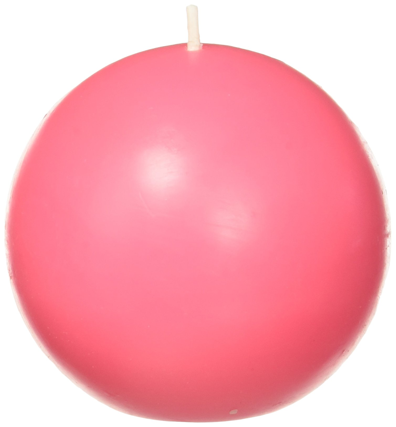 Zest Candle 6-Piece Ball Candles, 3-Inch, Hot Pink by Zest Candle