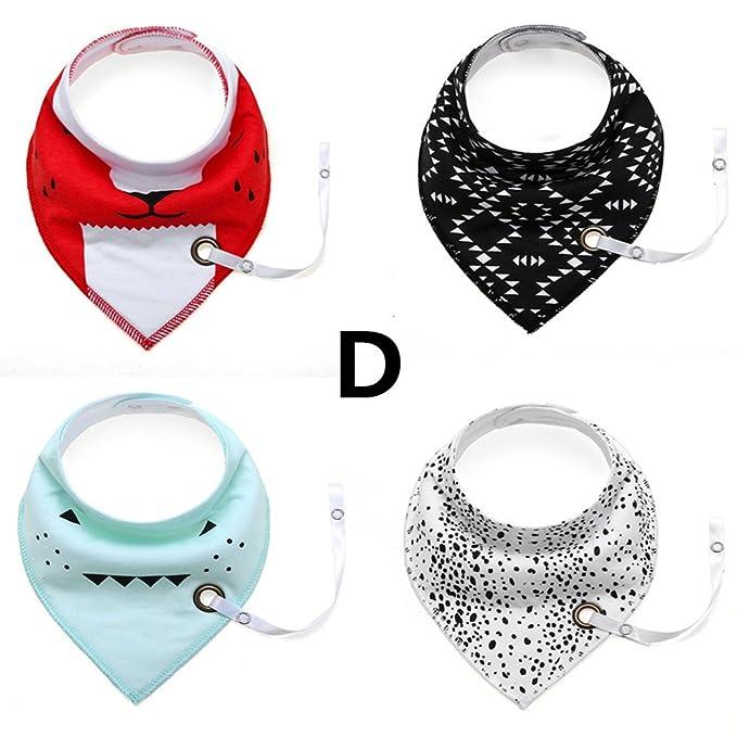 Wonder 4 Pack Cute Triangle Cotton Bandana Baby baberos con ...