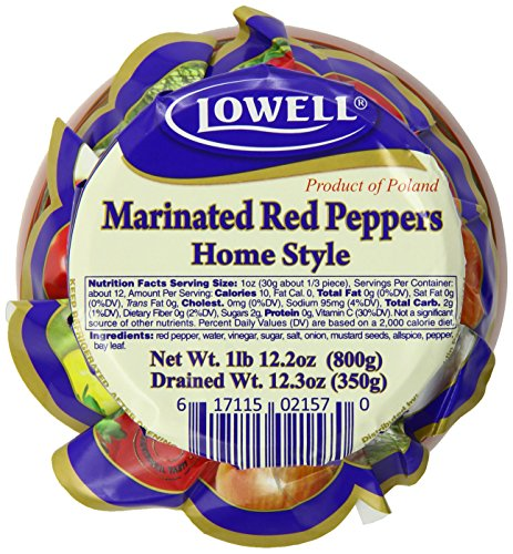 UPC 617115021570, Lowell Foods Marinated Red Pepper Beczulka, 28 Ounce (Pack of 6)