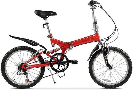 LI SHI XIANG SHOP Bicicleta Plegable de 20 Pulgadas de Velocidad ...
