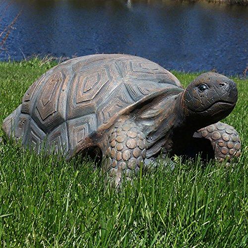 Sunnydaze Tanya the Tortoise Indoor/Outdoor Garden Statue, 20 Inch Long Decorative Turtle