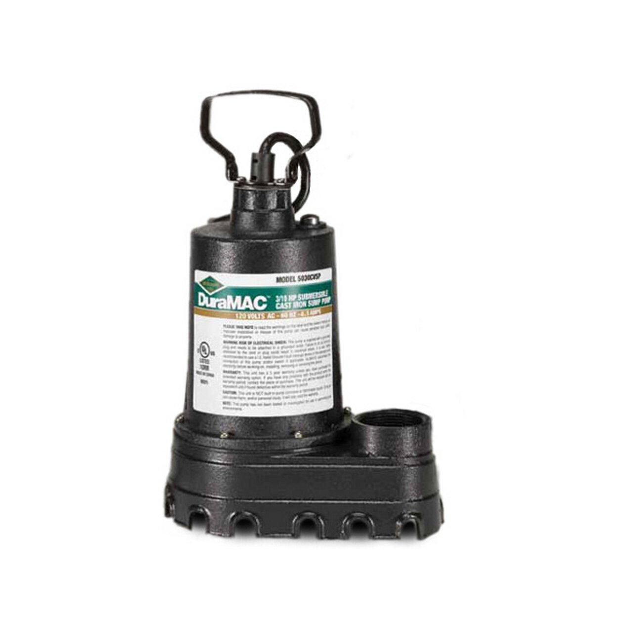 AY McDonald 6190-162 5030CUSP Cast Iron Sump Pump, 3/10 HP