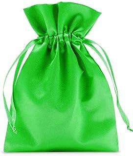organzabeutel24 | 12 Satinsäckchen, Satinbeutel in satten Unifarben, Größe 23x15cm, edle Geschenkverpackung, Schmuckverpackung, Ostern, Adventskalender (Pink)