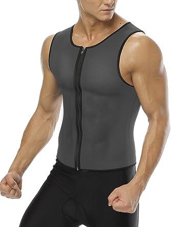 a89469ae6d Amazon.com  FeelinGirl Men Hot Neoprene Sauna Tank Top Sweat Waist Trainer Vest  Weight Loss Body Shaper  Clothing