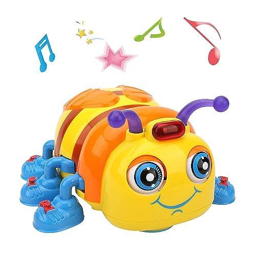 LUKAT Jouets Bébé Musicale de 1, 2, 3, 4 Ans Bambin Garçon Fille, Rampant et Chantant Abeille Jouet