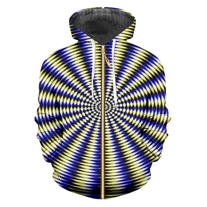 Sudaderas Cremallera Vortex Zip Hoodies Punk Rock Personalidad Hip Hop Street Jacket 3D Impreso Aventura Color Casual: Amazon.es: Ropa y accesorios