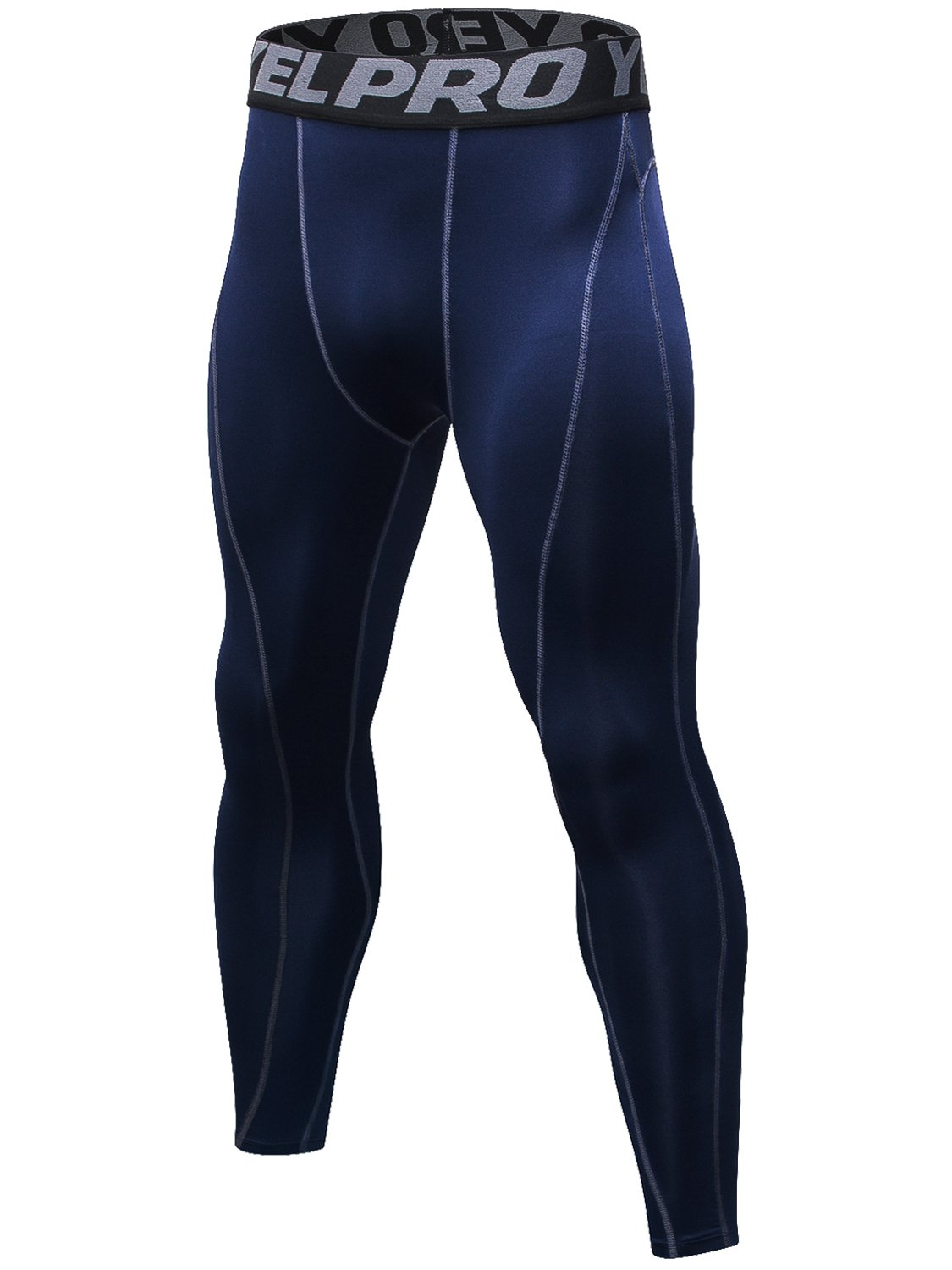 1 Pack-1060 Navy blueee X-Large Lavento Men's Compression Pants Baselayer Cool Dry Running Ankle Leggings Active Tights
