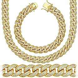 Gold Electroplated Solid Link Chain