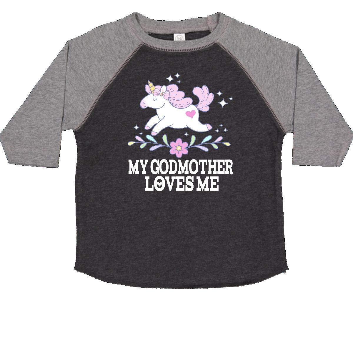 inktastic My Godmother Loves Me Unicorn Toddler T-Shirt