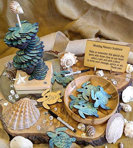 Sea Turtle Memory Sculpture Wedding Guest Book Alternative