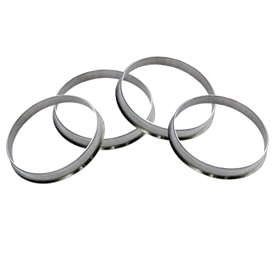 GDSMOTU 4pc Alloy Aluminum 64.1mm OD to 60.1mm ID Hub Centric Rings - Performance Hubrings for 60.1mm Vehicle Hubs with 64.1mm Wheels Center Bore: Automotive