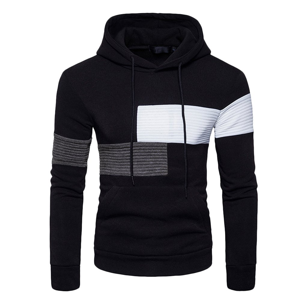 Zhhlinyuan Mens Hoodie Hoodies Hooded Sweatshirt Sportswear with Big Pockets