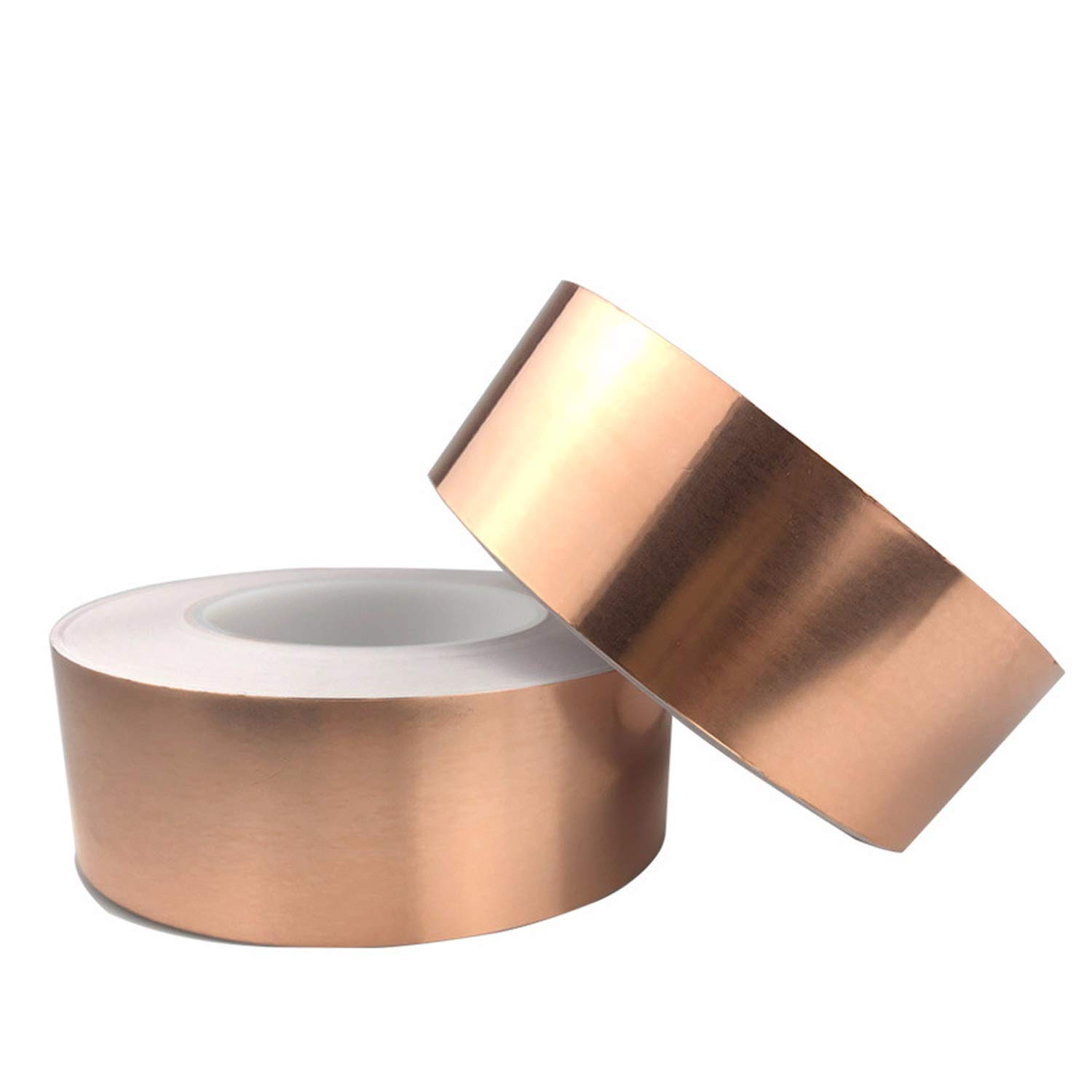 Copper Foil Tape with Single Sided Conductive Adhesive 2/4/6 Rolls (20/25/30/50mmx20m) - Electrical Repairs, Slug Repellent, EMI Shielding, Stained Glass, Crafts, Grounding (2-Roll,25mm x 11yard)