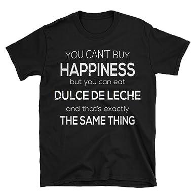 Funny Food T-Shirt Eat Dulce De Leche - Black, S