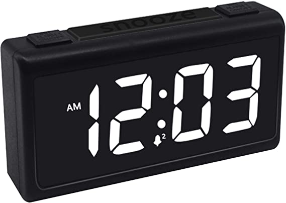 SOSECCE Alarm Clock 12//24Hr Full Range of Adjustable Brightness and Volume Snooze Alarm Clocks for Bedrooms with Dual Alarms,USB Port for Charging Blue