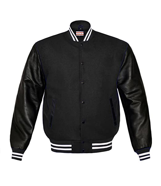 Amazon.com: Superb Genuine Leather Sleeve Letterman College ...
