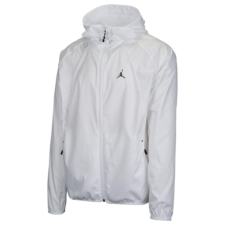 785f9e4ddd4f22 Galleon - Nike Men s Jordan Sportswear Wings Windbreaker Jacket White Black  (Large)