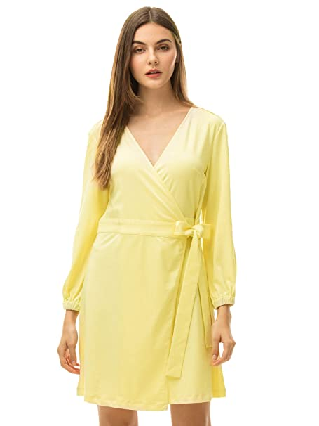 MessBebe Vestidos Verano Mujer Pijama Camison Mujer Fiesta Casual Playa Vestido Ajustado Manga Larga Vestidos Elegantes Mujer Boda Novia Partido