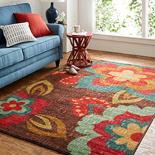 Mohawk Home Strata Ayanna Floral Printed Area Rug, 5'x8', Multicolor]()