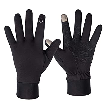 aimdonr Invierno Cálidos Guantes, guantes cortavientos impermeable, antideslizante Thermal Liner pantalla táctil, Outdoor Ciclismo Conducción Unisex: ...