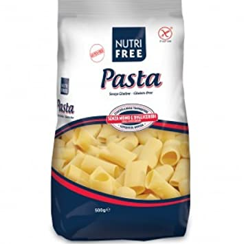 Amazon.com: Nutrifree Rigati Paccheri pasta sin Gluten 500 g ...